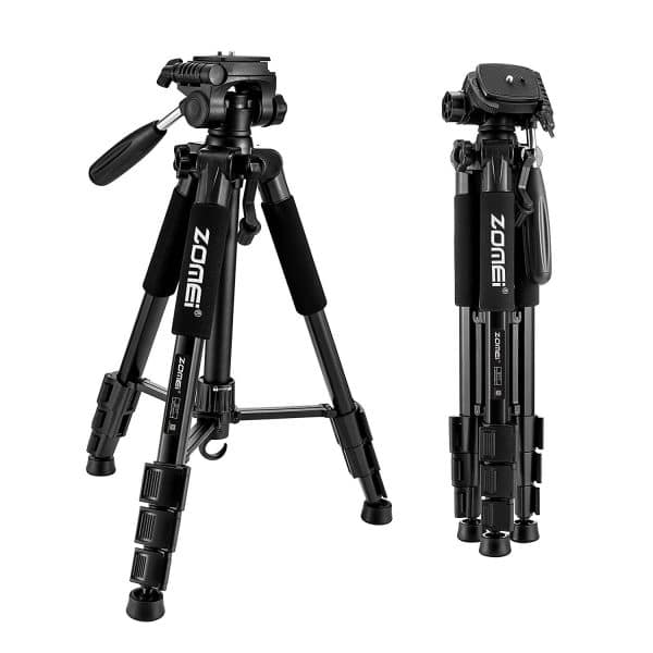 New Zomei Tripod Z666 Professional Portable Travel Aluminum Camera Tripod Accessories Stand with Pan Head for Digital SLR Camera