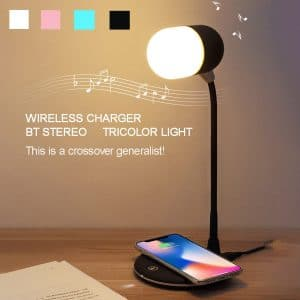 3-in-1 Night Light Bluetooth Speaker Wireless Charger