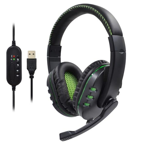 Headset Gaming Headset With LED Lighting, Wired Headset, Microphone AMD-06