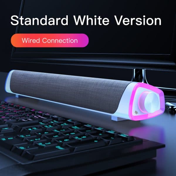 4D Computer Speaker Bar Stereo Sound subwoofer Bluetooth Speaker For Macbook Laptop Notebook PC Music Player Wired Loudspeaker