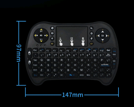 Smart Touch Game USB2.4G Full Keyboard TV Brain Wireless Remote Control